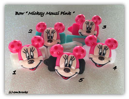 "HundeHaarSpange  "" Mickey  Mousi Pink """