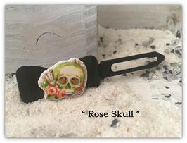 """Sommer Totenkopf HundehaarSpange """"  Rose Skull Nr 3 """""""