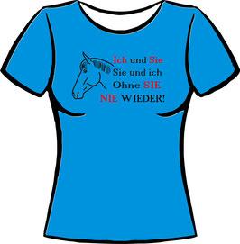 Pferdekopf mit Spruch Stute