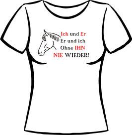 Pferdekopf mit Spruch Hengst/ Wallach