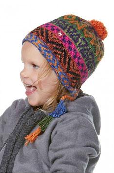Kinder Mütze AQUARELL für 1-9 Jahre mit Baumwollvlies gefüttert
