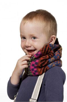 Kinder Loop Schal AQUARELL mit Baumwoll Innenfutter