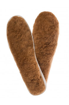 Alpaka FELLSOHLE Gr. 34-47 Einlege-Sohlen Schuheinlage mit Alpaka-Fell