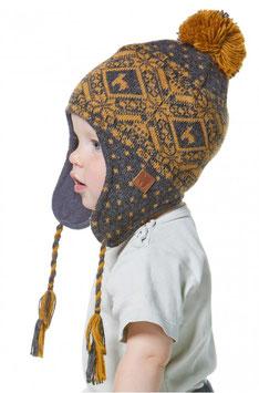 Gestrickte Mütze ANDEN ROCA für Kinder 6 Monate bis 9 Jahre mit Ohrklappen