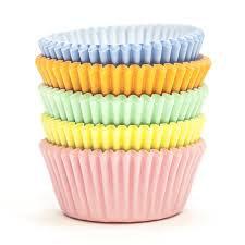 Mini Cupcakes Förmchen Pastell