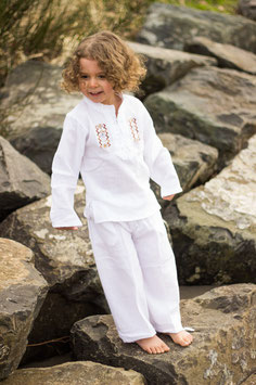 Salva Long Sleeve Set - White