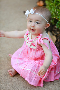 Bella Pink Pinafore Baby Dress