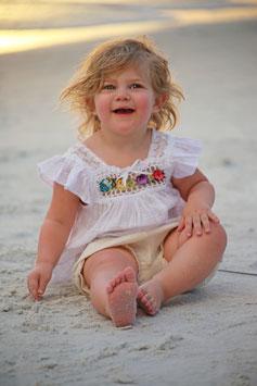 Irene Ibiza Baby Dress White