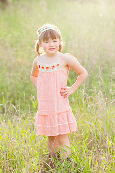 Bella Peach Ibiza Pinafore Girl