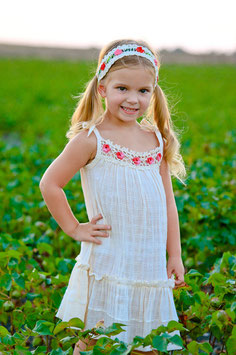 Bella Natural Pinafore Girl Dress