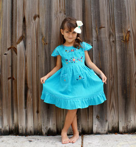SALE- Cyan Aqua Lorna Skirt Dress