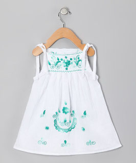 Lorena Baby White & Green