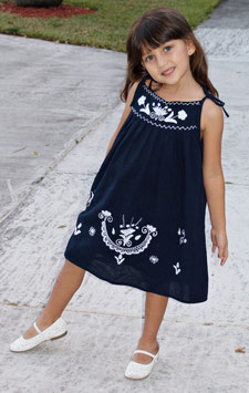 Lorena Navy White