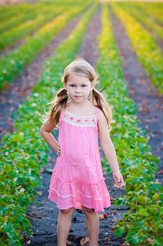 Bella Pink Pinafore Girl Dress