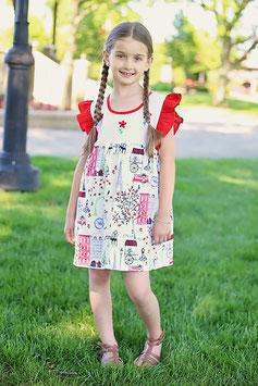 Jenny Red  Paris Dress