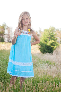 Nathaly Ibiza Dress Sky Blue