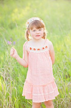 Bella Peach Pinafore Baby Dress