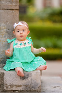 Bella Mint Pinafore Baby Dress