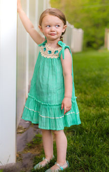Bella Mint Pinafore Girl Dress