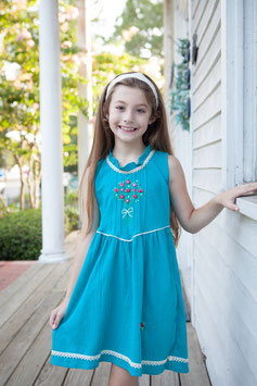 Teal Roses Hope Micaela Dress