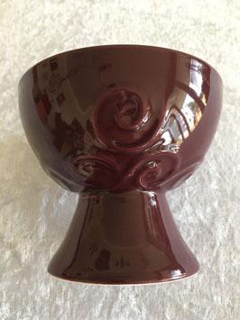 Räucherkelch Keramik weinrot