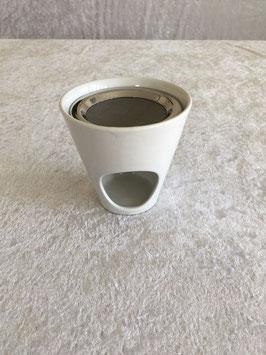 Weihrauchbrenner Keramik weiß