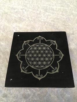 Räucherstäbchenhalter Blume des Lebens im Lotus