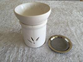 Duftlampe Weihrauchbrenner Keramik cremeweiß