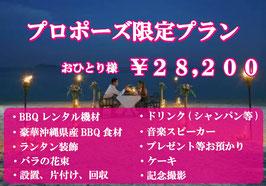 プロポーズ限定プラン ¥28,200