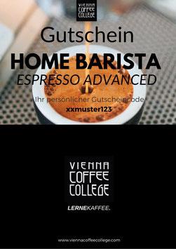 Geschenkgutschein - Home Barista Espresso Advanced Kurs