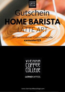 Geschenkgutschein - Home Barista Latte Art Kurs