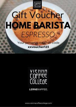 Gift voucher - Home Barista Espresso Course