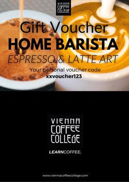 Gift voucher - Home Barista Espresso & Latte Art