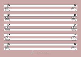 Schreibblock PIRATENSCHIFF - A5 quer - 25 Seiten - 2fach Ablochheftung