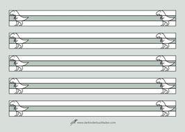 Schreibblock - T-Rex -A5 quer - 25 Seiten - 2fach Abheftlochung