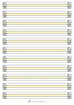 Schreibblock HAUS - A4 - entspricht Lineatur 0 (Null) - Mittellinie gelb