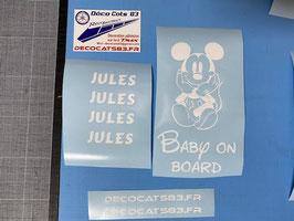 """Bébé à bord """"Mickey"""""""