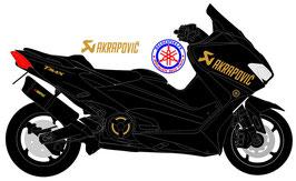 """Déco """"Akrapovic"""" pour ailes avant phase 5 (modèle N°9)"""