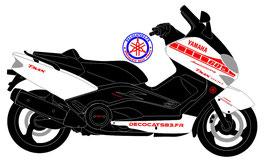 """Déco """"60 ans de Yamaha"""" pour les ailes avant de phase 1"""