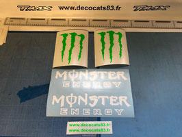 """2 Gros Logos """"Monster Energy""""  pour les ailes avant"""