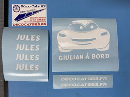 "Sticker ""Cars"" personnalisable"