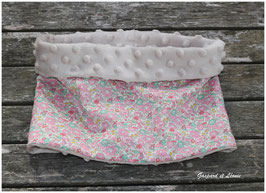 Snood Liberty Betsy Ann Sweet Pink, polaire beige 2-6 ans
