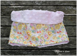 Snood Liberty Betsy Jaune, polaire rose pale 2-6 ans