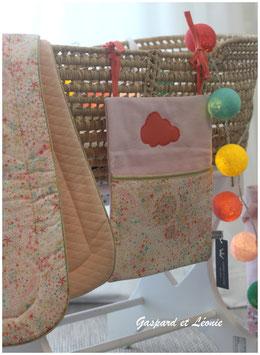 Pochette de rangement pour lits à barreaux Rose et Liberty Adelajda Soleil