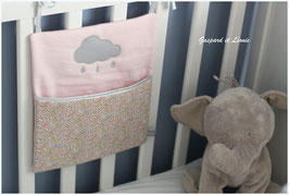 Pochette de rangement pour lits à barreaux Rose et Liberty Katie and Millie Nude