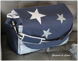 Sac à langer ou sac week end Marine et Liberty Adelajda bleu