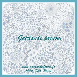 Guirlande prénom 5 lettres Liste de Naissance Céline et Michel