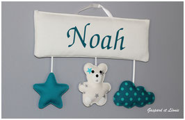 Plaque de porte ou Murale MODELE NOAH