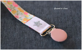 A22- Attache tétine Liberty Wiltshire LemonCurd