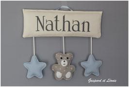 Plaque de porte ou Murale MODELE NATHAN